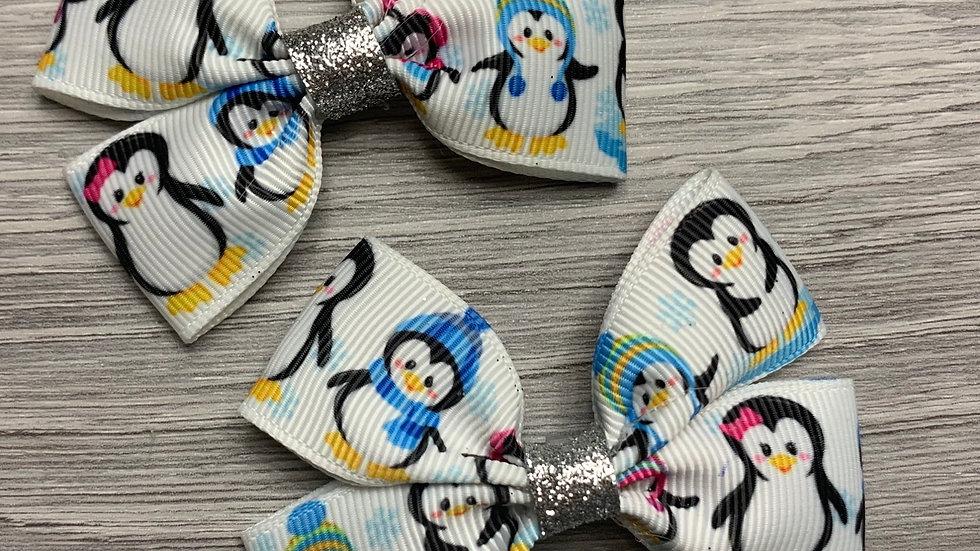 Penguin ribbon bow