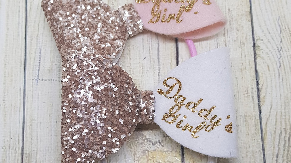 Daddy's girl hair bows