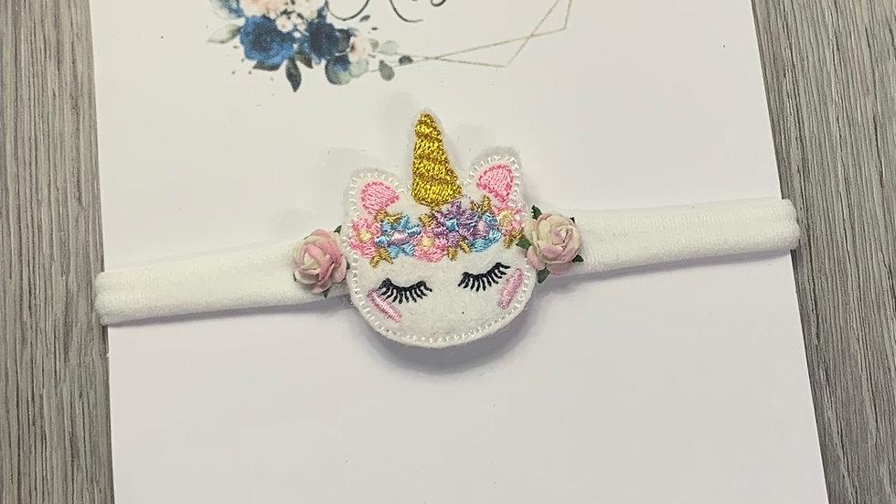 Floral Unicorn head