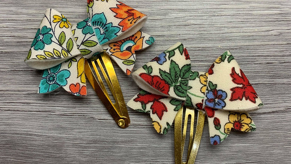Floral Darling Snap Clips Set