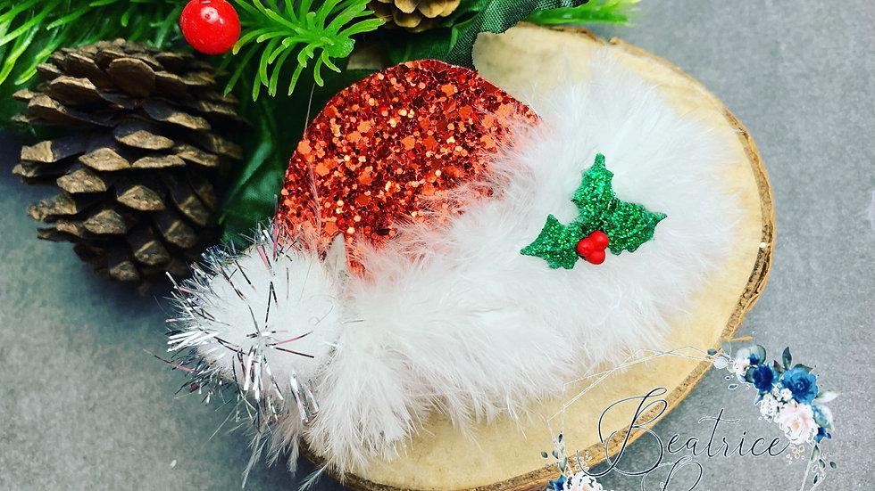Santa hat clip