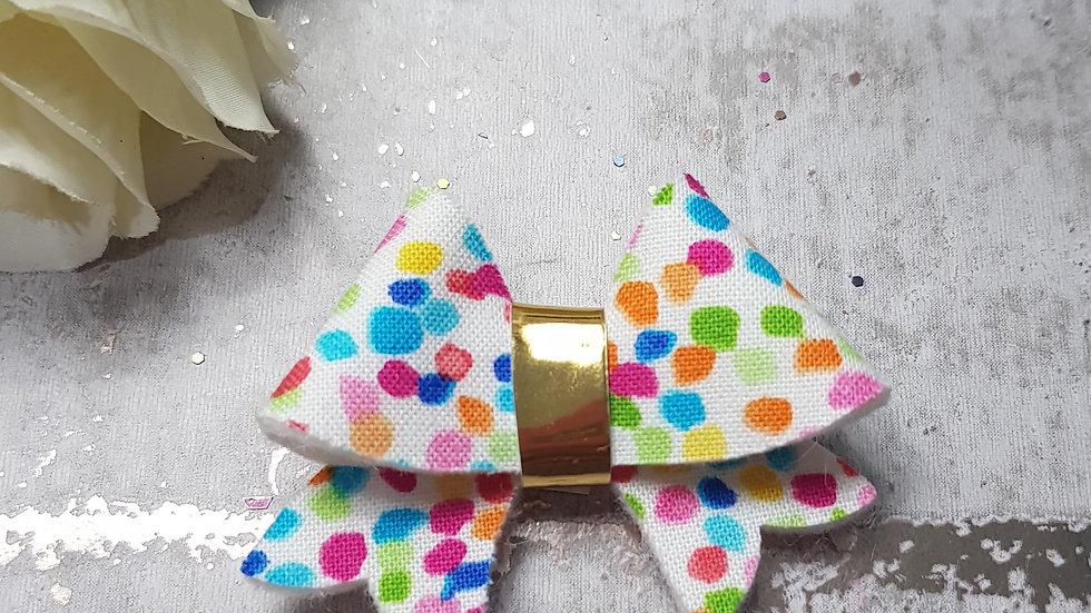 Multicoloured flurry hair bow