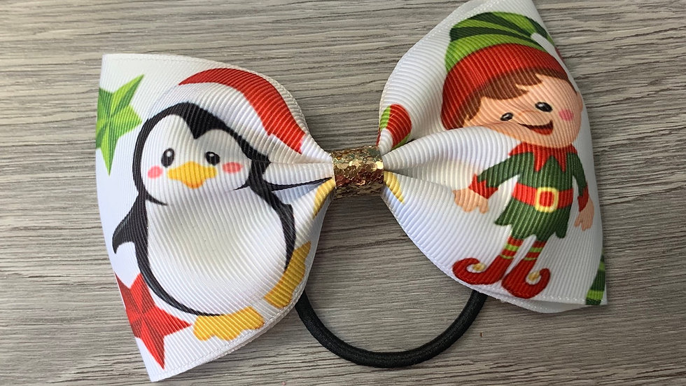 Christmas large tux ribbon bow
