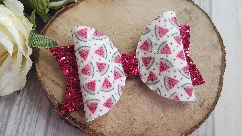 Watermelon hair bow