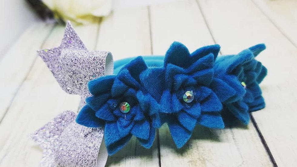 Floral bow bun wrap