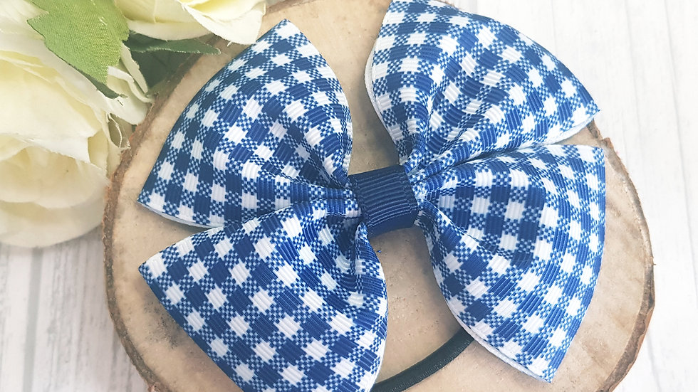Large double gingham bows
