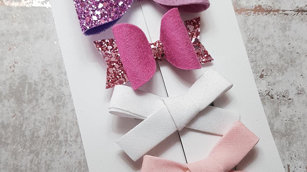 Name bow and fringe clip set