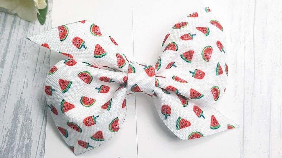 Watermelon twirly bow