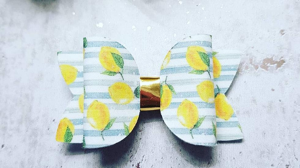 Lemon summer hair bow