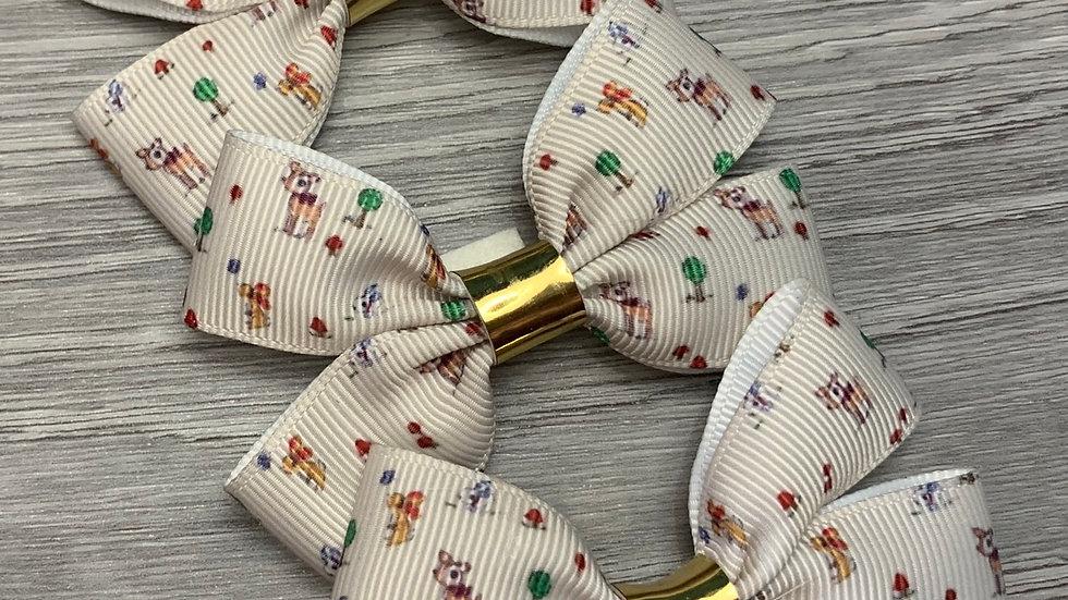 Christmas reindeer ribbon bow