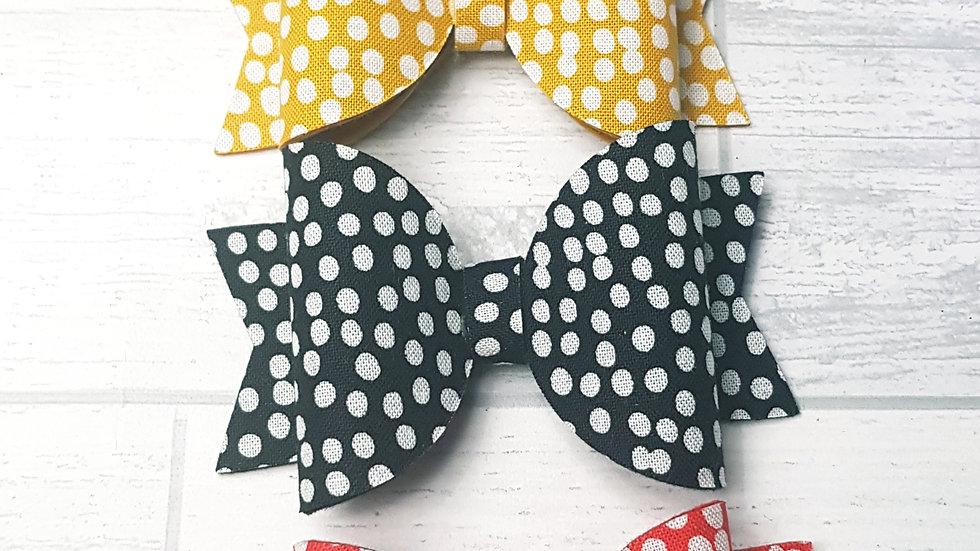 Flurry polka dot bow set