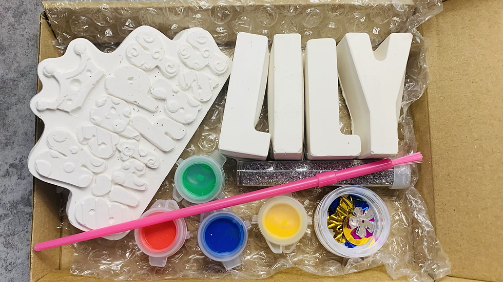 Paint your own name craft kits BIRTHDAY version