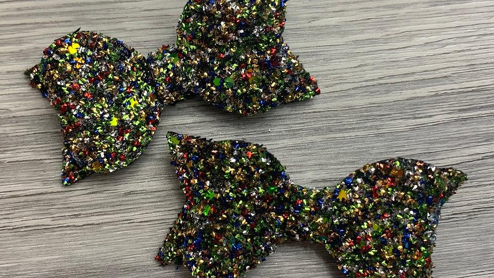 Multicoloured tinsel bow