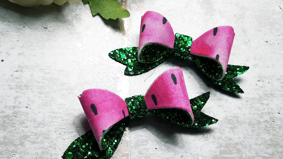 Watermelon beau bow
