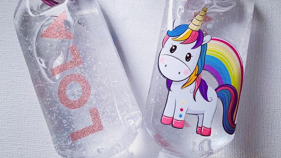 Personalised hand gel bottles