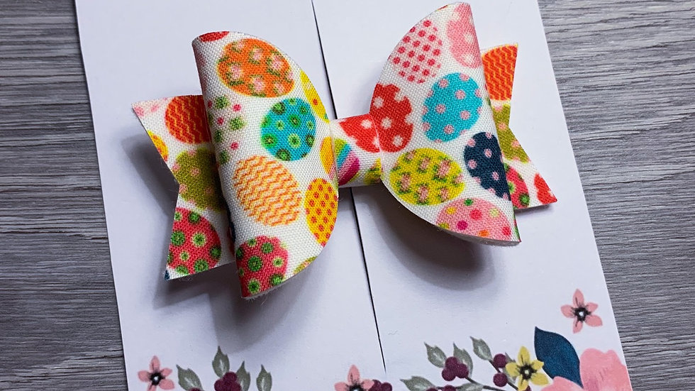 Easter egg colourful bow
