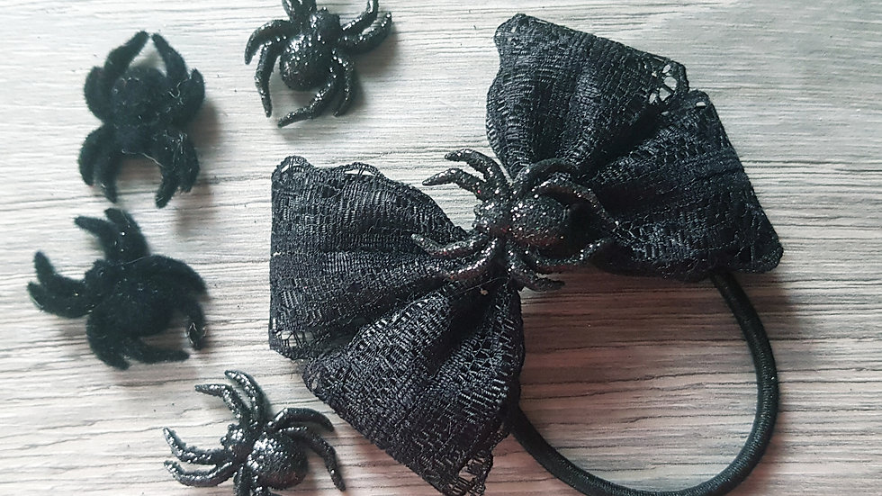 Ribbon and lace spider bow