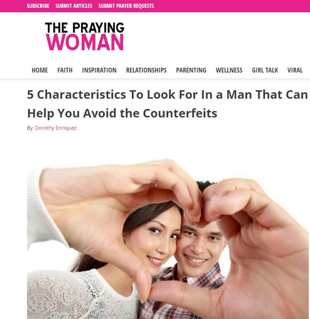5 Characteristics to Look For in a Good Man...