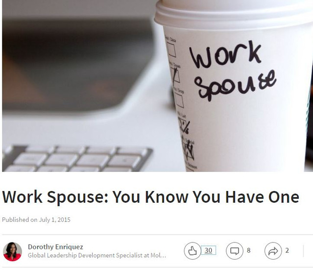 Work Spouse: You Know You Have One