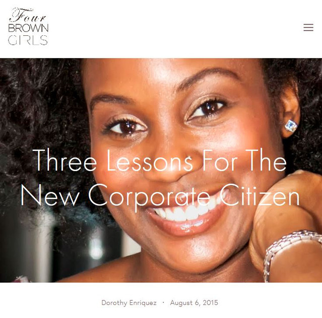 Three Lessons for the New Corporate Citizen