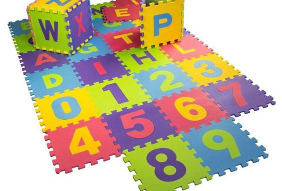 Gravolite EVA Kids Interlocking Alphanumeric Mats