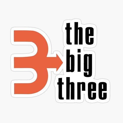 Big Three Sticker (Full Logo)