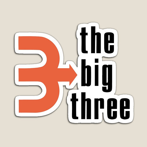 Big Three Magnet (Full Logo)