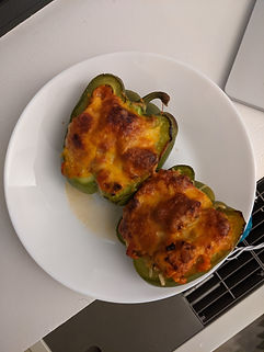 Chicken and Broccoli stuffed Bellpeppers