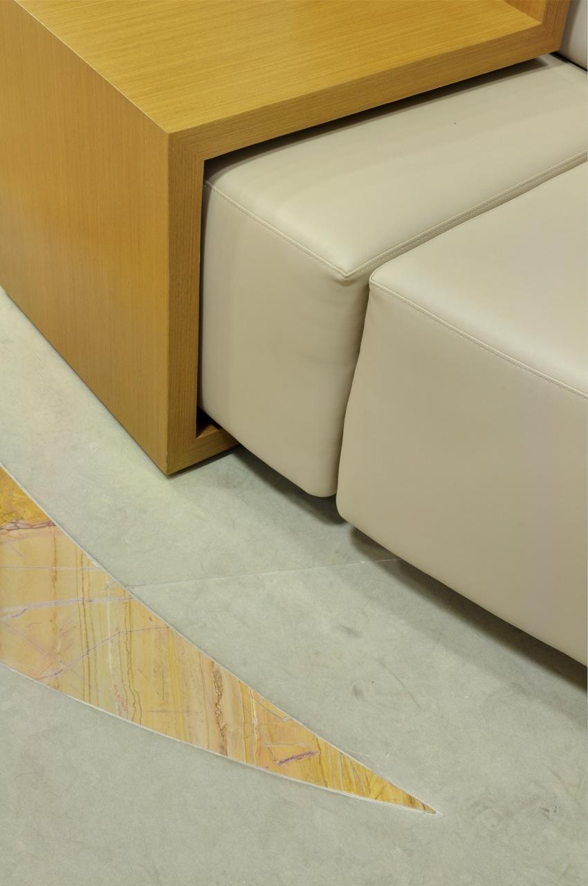 Hall social - detalhe do piso