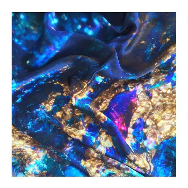 I N T U I T I O N _ 100% Greek Mulberry crepe satin silk shawl details 💖💙 90x90cm square scarf, 14