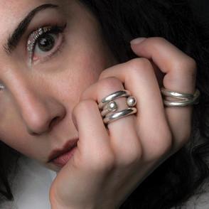 ancientgreekjewellery ancient greek jewellery agj esperides ring, sphaera torque ring, naiades rings