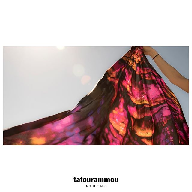 T R A N S I T I O N _  The Soul's Gesture of Liberation 💛❤💖💜🖤 Crepe satin silk shawl 180x135cm .