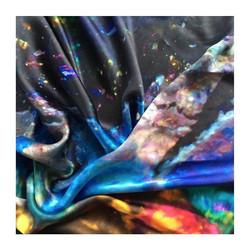 H E A L I N G _ 100% Greek Mulberry crepe satin silk scarf 💙_._._._._