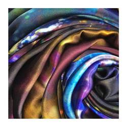 H E A L I N G _ 100% Greek Mulberry crepe satin silk scarf_._._._._