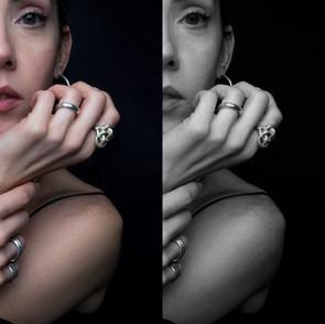 ancientgreekjewellery ancient greek jewellery agj plexis ring, mikros kombos hoop earrings, artemis ring, naiades rings, ava chevalier ring