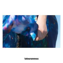 I N T U I T I O N _ 100% Greek  Mulberry Crepe Satin silk shawl, 140x200cm 💙_._._._._