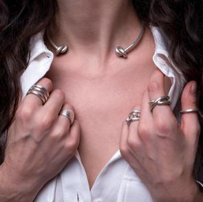 ancientgreekjewellery ancient greek jewellery agj megalos kombos choker heliades ring esperides ring, sphaera torque ring, naiades rings, ionides ring, evridiki ring