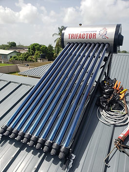 Solar Water Heater Install in Arima for