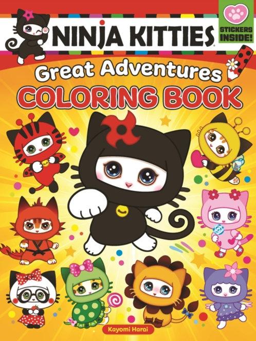 Ninja Kitties Great Adventures Coloring Book