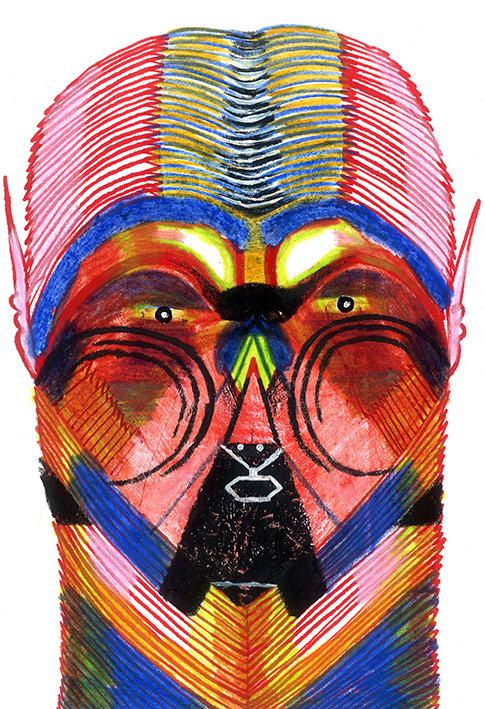 """Máscara-6 -   Série """"Um rosto é um risco"""""""