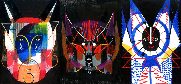 """Máscaras Trio-1   Série """"Um rosto é um risco"""""""