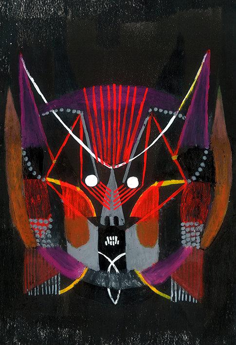 """Máscara-5   Série """"Um rosto é um risco"""""""