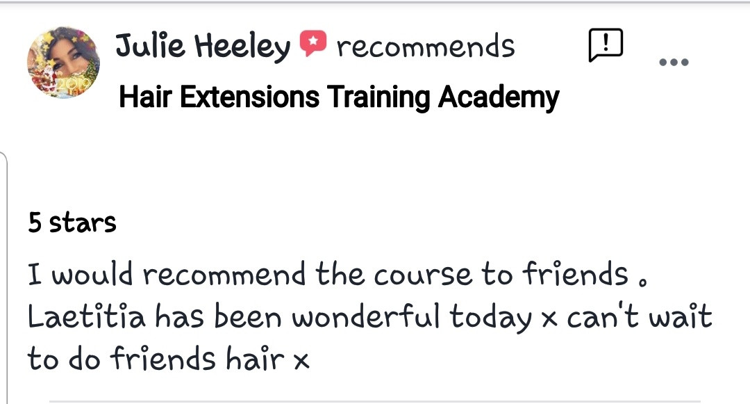 Hair Extensions Training Academy Testimonial 12