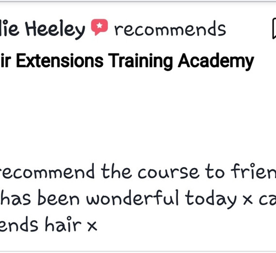 Hair Extensions Training Academy Testimonial 12