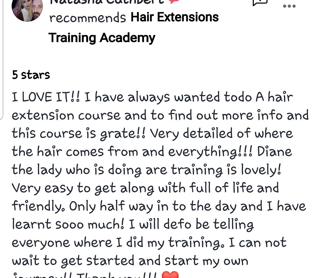 Hair Extensions Training Academy Testimonial 5