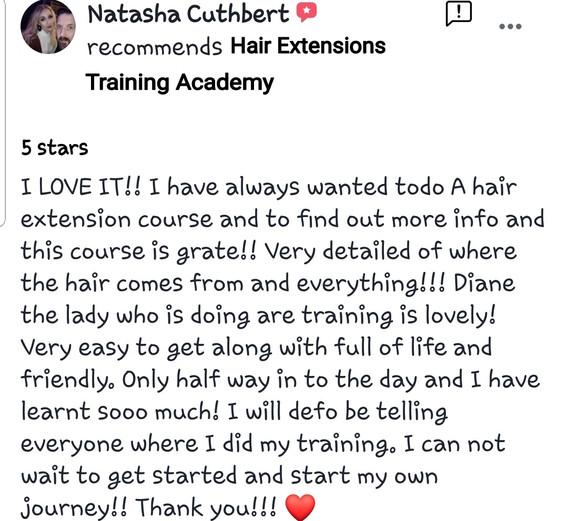 Hair Extensions Training Academy Testimonial 5