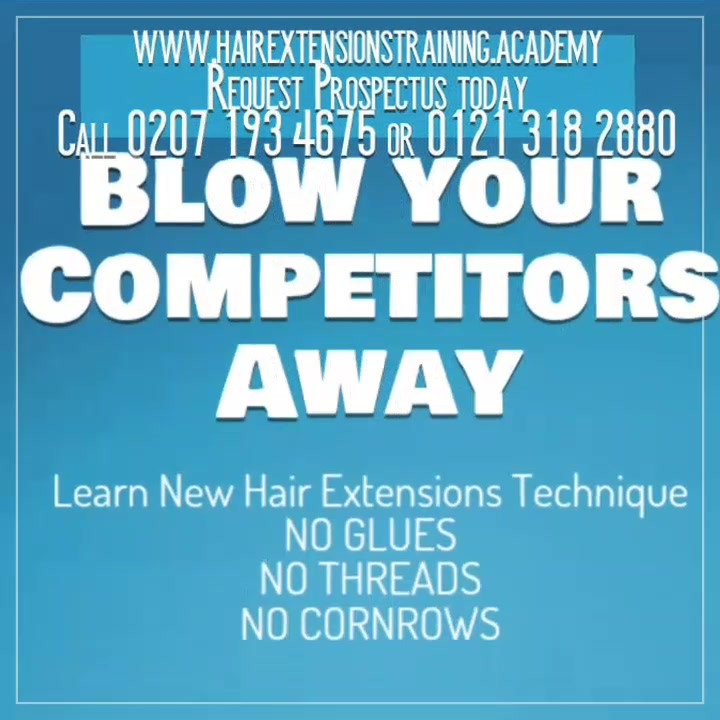 Special offer on hair extensions courses
