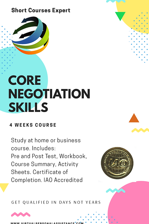 Core Negotiation Skills - A One Day Primer