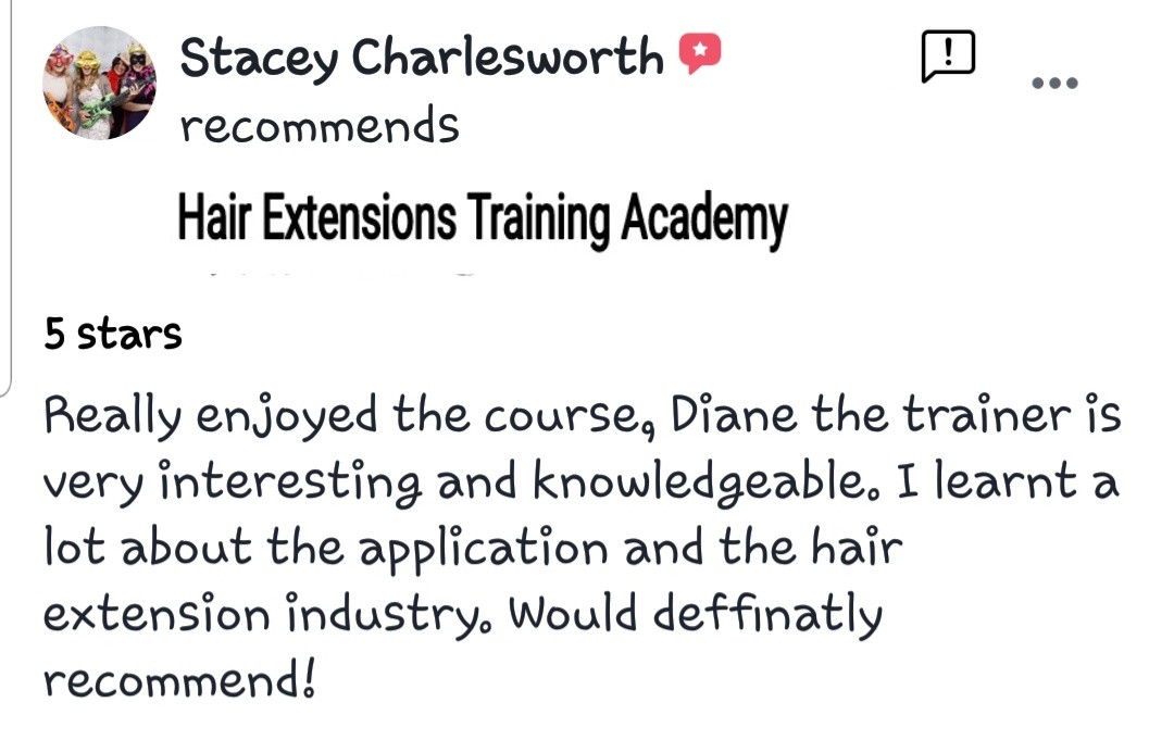Hair Extensions Training Academy Testimonial 7