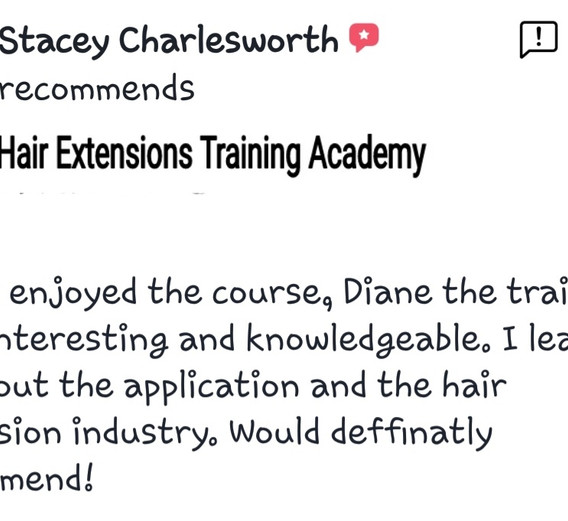 Hair Extensions Training Academy Testimonial 7